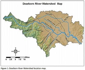 Dearborn River Watershed Location Map