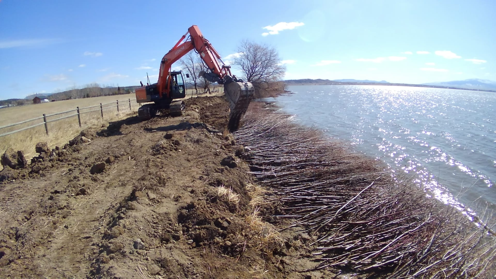 Willow soil lift, Lake Helena, Montana